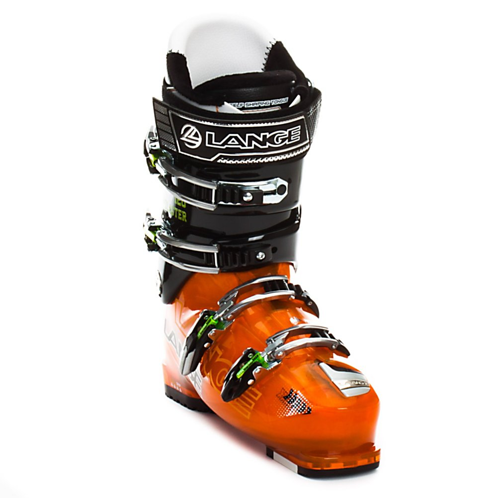 Ski Lange Super Blaster Ski Boots - The Super Blaster returns to reign supreme as the do-everything boot for aggressive skiers. The Super Blaster combines downhill performance, climbing mobility, and comfort into a package that doesn't sacrifice in any category. Starting with the 102mm, the Super Blaster is comfortable with space for your toes when hiking but still can drive hard. The Neutral Stance geometry also helps to provide the power you want from a high performance boot by creating a balanced and very responsive shell with great rebound energy for on and off piste performance. For going back up hill the Climbmatic cuff release system is a cinch. By flipping the lower cuff buckle forward the cuff releases for a long striding motion and the ultra grip sole makes sure you don't slip on rocks or a wet floor. A true lasted Control Fit liner combines tremendous heel hold though anatomical padding with just enough plushness to keep you feet happy all day long. Topped off with four microadjustable buckles, cuff alignment, and a power strap the Super Blaster can be tune up for just about any foot shape. The Super Blaster really is a jack of all trades, but unlike the saying, it is the master of them too. Features: Easy Entry Concept - Notched Lower Shell For Easier Entry And Exit, Four Microadjustable Aluminum Buckles, Powerstrap. Actual Flex: 120, Cuff Alignment: Single, Warranty: One Year, Gender: Mens, Special Features: Climbmatic Cuff Release System, Ski Boot Width: Medium (100-103mm), Special Features: Ultra - $249.90