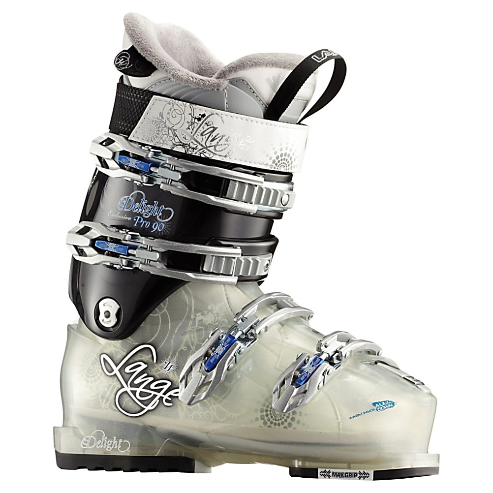 Ski The Exclusive Delight Pro holds a unique place as one of the first ever Women's sidecountry boots and returns as versatile as ever. With a 102mm forefoot they have a slightly roomy toe fit to keep things nice and relaxed with a traditional strong heel pocket. When paired with a 90 flex shell and cuff the Delight Pro becomes the perfect utility tool for intermediate to advanced rider who wants strong and responsive performance. Using an upright stance the Delight Pro provides a well balanced body position that creates far less fatigue and allows for a large range of motion that creates good rebound energy for a dynamic and lively feel. The Climbmatic Cuff Release System lets you take long walking strides for quick boot backs, ridge trails or beating people to the tram line. The Max Grip sole keeps your feet from slipping on icy tram docks. A Women's specific Control Fit liner with a thin lining of goose down keeps feet super toasty and adds a slight bit of cushioning without giving up response. If you want a warm boot that fits great, skis better and help you out hike everyone grab the Exclusive Delight Pro.  Control Fit Liner - Best Connection To The Shell,  Natural Stance - Balanced And Power Body Position,  Climbmatic Cuff Release System - Buckle Releases The Cuff For Walk/Hike Mode,  Elongated Toe Dam - Dry And Warm Toes,  Easy Entry Concept - Notched Lower Shell,  Best Fits a Medium to Narrow Forefoot and Narrow Leg Shape,  Max Grip Sole,  Actual Flex: 90, Cuff Alignment: Single, Gender: Womens, Ski Boot Width: Medium (100-103mm), Flex: Stiff, Race: No, Used: No, Ski/Walk: No, Freestyle: No, Sidecountry: Yes, Forefoot Width: 102mm at Reference Size 25.5, Flex Adjustment: No, Buckle Count: 4, Category: Side Country, Ski Gear Intended Use: All Mountain, Instep Height: Standard, Calf Volume: Standard, Skill Range: Advanced - Expert, Model Year: 2012, Product ID: 230380, Shipping Restriction: This item is not available for shipment outside of the United States., Model Number: LB14230 245, GTIN: 3607681129722, Warranty: One Year - $49.96
