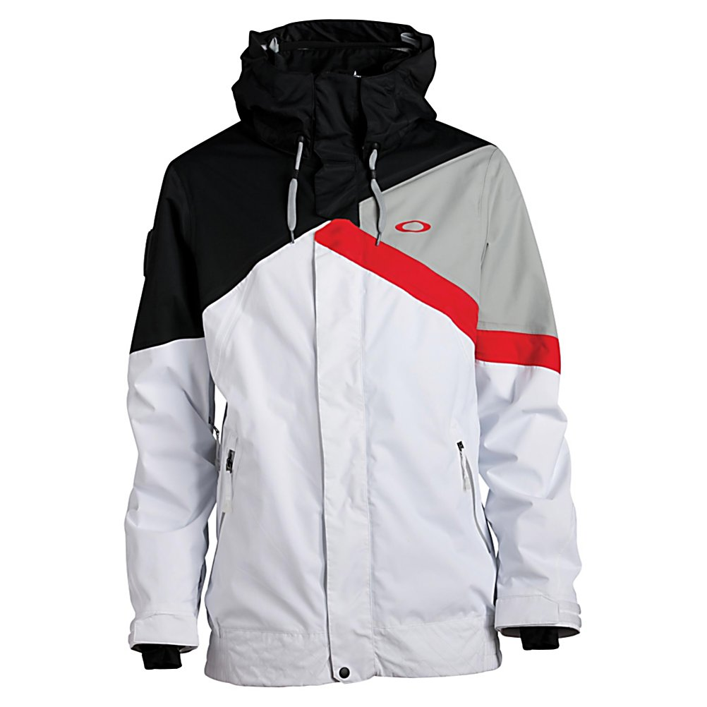 Ski Oakley Ascertain Mens Insulated Ski Jacket - Simon Dumont is known for his pipe skills and Oakley felt he was so awesome he should have his own jacket and thus the Ascertain Insulated Jacket was born. Filled with 80 grams of Thinsulate insulation and with a 15K waterproof and breathable rating ensure you will stay super warm, dry and comfortable so much so you will definitely stay out on the slopes longer. The Ascertain features a removable hood that allows you to ditch it when the weather is at its warmest and should you decide to leave it on but not wear it, the hood stays in place and out of your eyes with the hood magnet system. A molded MP3 porthole allows you to jam out to your favorite tunes while hitting the slopes and should the weather get crazy and you get trapped there is the RECCO safety system in the Oakley Ascertain Insulated Jacket. . Exterior Material: Nylon, Insulation Weight: 80g, Taped Seams: Fully Taped, Waterproof Rating: 15,000mm, Breathability Rating: 15,000g, Hood Type: Removable, Pit Zip Venting: Yes, Powder Skirt: Yes, Hood: Yes, Warranty: One Year, Use: Ski, Battery Heated: No, Race: No, Type: Insulated, Cut: Full, Length: Medium, Insulation Type: Synthetic, Waterproof: Moderately Waterproof (5000mm-19,999mm), Breathability: High Breathability (9000g-15,000g), Cuff Type: Velcro, Wrist Gaiter: Yes, Waterproof Zippers: No, Cinch Cord Bottom: Yes, Insulator: Yes, Model Year: 2013, Product ID: 291638 - $249.95