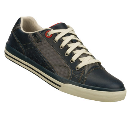 Classic sporty good looks meets blissful fit and comfort in the SKECHERS Relaxed Fit(R): Diamondback - Tevor shoe.  Smooth leather and cordura nylon fabric upper in a lace up sporty casual oxford with stitching and overlay accents. Memory Foam insole for added comfort. - $69.00