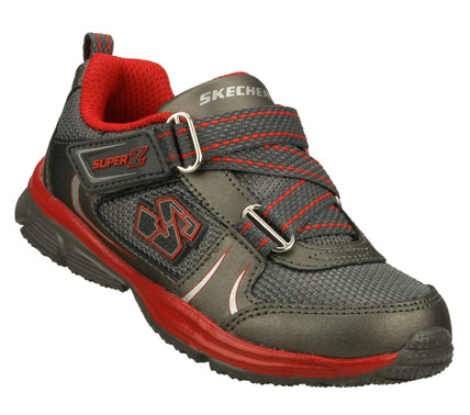 Little feet move quicker with the SKECHERS Speedees shoe.  Smooth leather and mesh fabric upper in a zigzag strap front sporty athletic sneaker with stitching and overlay accents. - $35.00