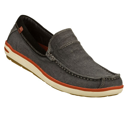 It's easier than ever to be cool and comfortable in the SKECHERS Relaxed Fit(R): Spencer shoe.  Soft woven canvas fabric upper in a slip on casual boat loafer with stitching and overlay accents. Memory Foam insole for added comfort. - $65.00