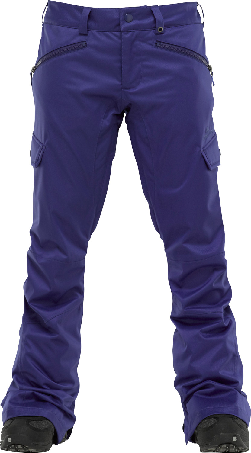 Snowboard Dangerous curves ahead!Key Features of the Burton Indulgence Snowboard Pants: 10,000mm Waterproof 5,000g Breathability DRYRIDE Durashell 2-Layer Coated Stretch Twill Woven Fabric [10,000MM, 5,000G] Slim Fit Stretch Taffeta Lining Mesh-Lined Inner Thigh Vents Thigh Vents Fully Taped Seams NEW Expandable Boot Gaiter Integrated Waist Adjustment Reinforced Hems Universal Pant Features:DRYRIDE Fabrication with DWR Coating Microfleece-Lined Handwarmer Pockets Articulated Knees Engineered Lining Bomber YKK Zippers Jacket-to-Pant Interface Taped Seams Boot Gaiter with Gripper Elastic Cuffs Pass Pocket/Ticket O-Ring Butt Pockets Belt Loops Microfleece-Lined Fly and Waistband Ghetto Slits - $97.95
