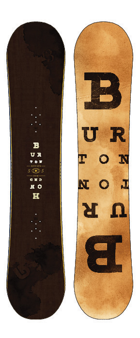 "Snowboard Blame your big boots. Blame the boss. But don't blame the board.Key Features of the Burton Honcho Wide Snowboard: Feel: 3 Double Chair Package Bend: Camber Shape: Twin-Like Flex: Directional Core: Super Fly with Dualzone EGD Fiberglass: Biax Base: Sintered Extras: 0.5"" Setback Stance and Pro-Tip - $279.95"