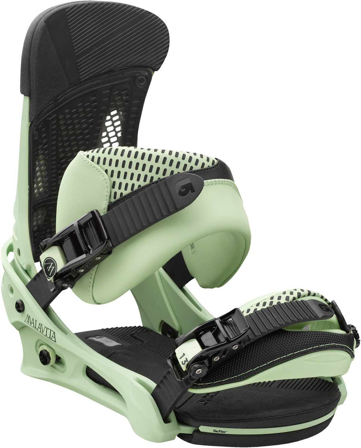 Snowboard Pillage, plunder, punish...you get the drift.Key Features of the Burton Malavita Snowboard Bindings: Response: 6 Baseplate: NEW Single-Component 30% Short-Glass/Nylon Composite Re:Flex Hi-Back: Canted living Hinge Zero-lean Hi-Back with DialFlAD and Heel Hammock Straps: NEW Asym React Strap and Gettagrip Capstrap Buckles: Dual-Component Smooth Glide Buckles Cushioning: NEW Re:Flex AutoCANT FullBED Cushioning System with B3 Gel Features Re-Ground Materials in Baseplate and Hi-Back to Reduce Waste - $181.95