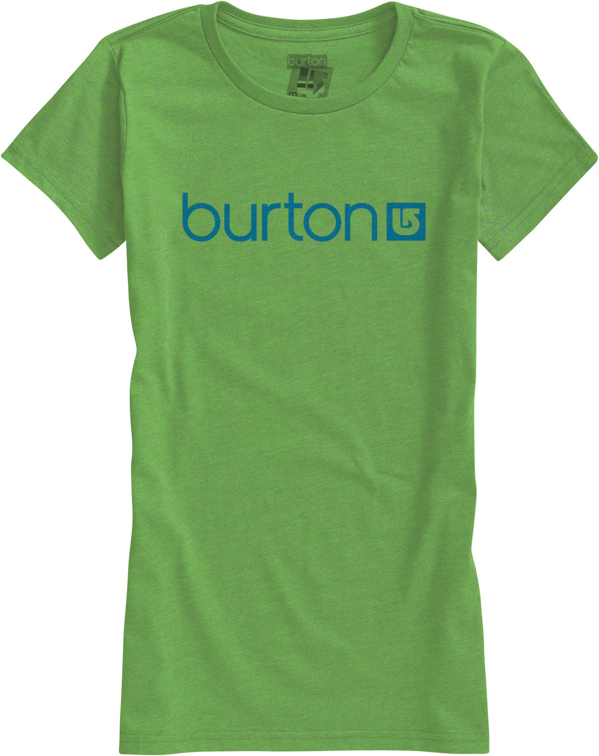Snowboard Key Features of The Burton Her Logo T-Shirt: Regular Fit Crew Neck Short Sleeve 100% Cotton Silicone Fabric Treatment Screen Print on Front - $14.95