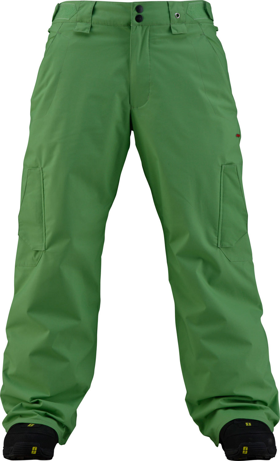 Snowboard These snowboard pants scream style. The pants are part of the shell series, and allow maximum breathability as well as a high-tech waterproof material. Specifically these pants are made with 2L MicroShield Nylon that protects as well as allows your legs to breathe. The shell is perfect for layering when conditions on the slopes are variable. The pants also feature durable fully taped seams, with a Taffeta lining. These pants come in a variety of colors, and are sure to please the entire Tribe.Key Features of the Foursquare Chief Snowboard Pants: 5,000mm Waterproof 5,000g Breathability Series: Shell Material: 2L MicroShield Nylon oxford Fully taped seams Taffeta lining - $70.95