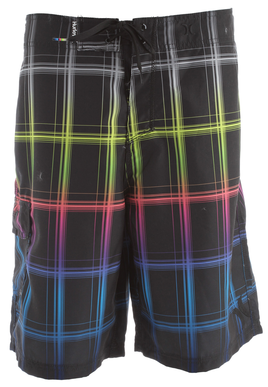 Surf Key Features of the Hurley Puerto Rico Blend Boardshorts: 22 Outseam Recycled Supersuede Patented EZ fly closure, embroidered logos, patch pocket with Velcro flap - $26.95