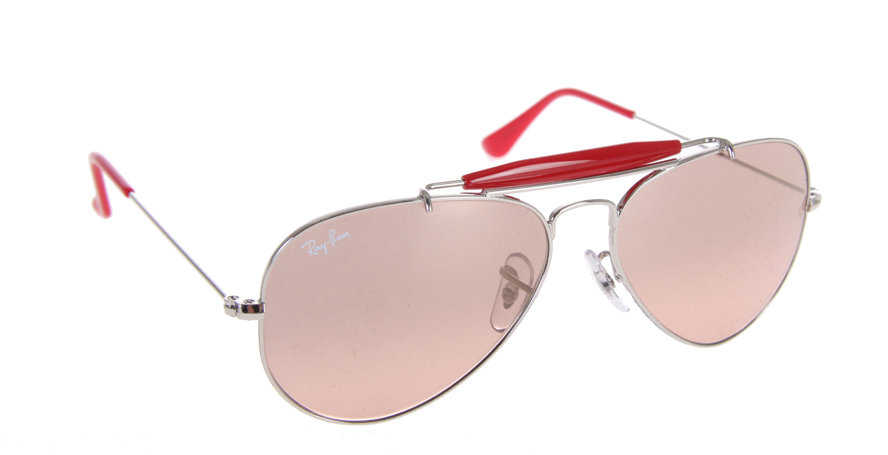 Entertainment The Outdoorsman II Rainbow is the iconic Aviator enhanced with a contrasting brow bar. This update is in line with today's colorful trends. The frames feature accent colors such as red and orange on the brow bar and temple tips. The look is completed with gradient and mirror lenses. - $138.95