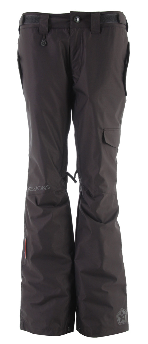 Snowboard The Atmosphere Snow Pant is a sleek fitting insulated pant. Key Features of the Sessions Atmosphere Snowboard Pants: 10,000mm Waterproof 8,000g Breathability Feature Package: Terrain Warmth Rating: 8 Fit: True Details: Thermagrid fleece seat and knees Exterior Recco - $58.95