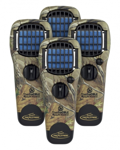 Hunting ThermaCELL - The Hunter's Special is a 4-pack of Mosquito Repellent Appliances with Turn Dial – Realtree APG™ Camo.