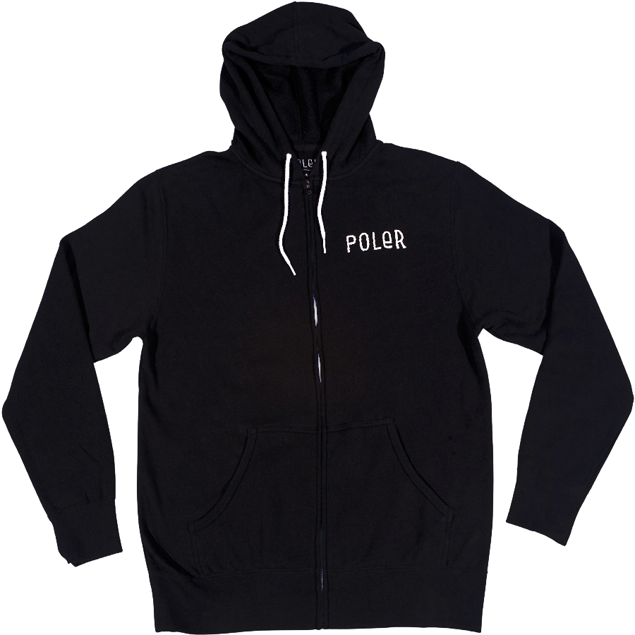 Snowboard The Poler Venn Diagram Womens Zip Hoodie in Black     A note on sizing: These shirts are slim cut super soft cotton poly blend. These are the same size as our Men's hoodies. When ordering please keep in mind that these are Unisex size and not a smaller woman's specific fit. - $59.95
