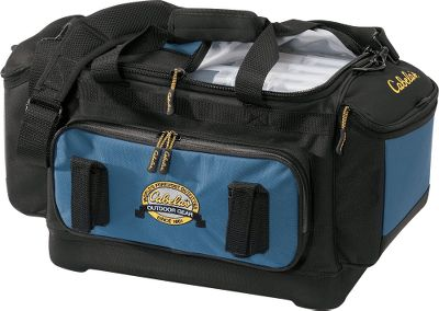 Fishing Sturdy weather-resistant 600-denier polyester bags with hard, formed bottoms. Features a mesh back pocket; a water-resistant front pocket; tool holders; and a padded, adjustable shoulder strap. Includes four 3700-size utility boxes. Imported.Dimensions: 20.5L x 9.75W x 11H.Color: Blue. - $39.88