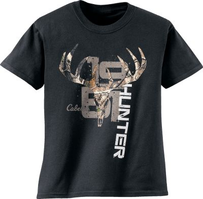 Hunting Screen print with Realtree accent. Made of 100% heavyweight cotton thats been preshrunk for a true fit wash after wash. Double-needle stiching in the neck, sleeves and hem for maximum durability. Imported.Sizes: XS-XL.Colors: Black, Forest. - $11.24