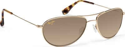 Entertainment The Maui Jim Womens Baby Beach Polarized Sunglasses sport incredibly light and strong titanium frames in a stylish aviator fit ideal if you are looking for a combination of modern and classic design. PolarizedPlus2 lenses eliminate 99.9% of glare and 100% of harmful UV rays while enhancing color transmission, thanks to their patented multilayer design. MauiGradient technology has also been integrated into the lenses to create a darker coating at the top that gradually gets lighter moving down the lenses. HCL Bronze lenses are perfect for variable conditions, from full sun to overcast, and have Clearshell Scratch Coating for added protection. Neutral Gray lenses are perfect on bright sunny days. Fitted with anti-corrosive hinges for years of reliability. Double-bridge design with adjustable, nonslip silicone nose pads for a secure, comfortable fit. Includes Maui Jim case and cleaning cloth.The Skin Cancer Foundation recommends this product as an effective UV filter for the eyes and surrounding skin. Color: Titanium. Gender: Female. Age Group: Adult. Type: Polarized. - $299.00