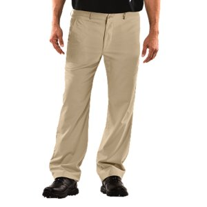 "Fitness Lightweight, ultra-comfortable fabric for best next-to-skin feel, maintaining comfort so you can focus out on the green4-way stretch fabrication improves mobility and accelerates dry time, while maintaining shapeAdvanced moisture management technology keeps you comfortable, dry, and focused on your game30+ UPF protects your skin from the sun's harmful rays and inhibits premature agingTwo side pockets and two rear besom pockets deliver convenient storage when you need it4"" Under Armour(R) script on lower left leg shows your preference for performance4.1 oz. Polyester/ElastaneImported - $38.99"