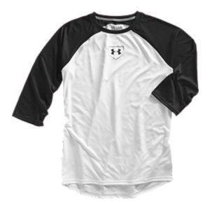 Sports Lightweight, 4-way stretch fabrication improves range of motion and dries fasterSignature Moisture Transport System keeps you cool and comfortable 3/4 sleeve construction delivers the classic baseball look and feelRaglan sleeves and flatlock seams prevent chafingExtra length keeps your baselayer in place all game longUA Baseball jock tag at bottom hem3.8 oz. PolyesterImported - $29.99