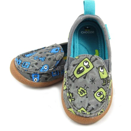 Let your little one show off his individuality and style in the Chooze Scout shoes. Featuring a fun all-over print, left and right shoes coordinate without being exactly the same. - $20.83