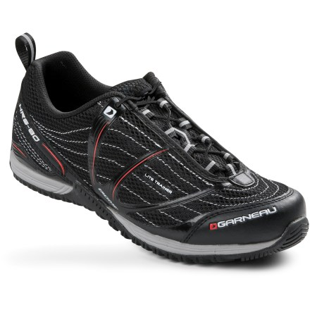 Fitness When it's cold and dark outside, ride inside with the Louis Garneau Lite Trainer bike shoes. They're great for spin class and your indoor trainer. - $16.73