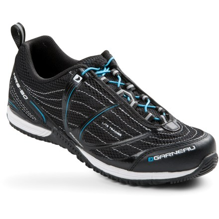 Fitness When it's cold and dark outside, ride inside with the women's Louis Garneau Lite Trainer bike shoes. They're great for spin class and your indoor trainer. - $53.73