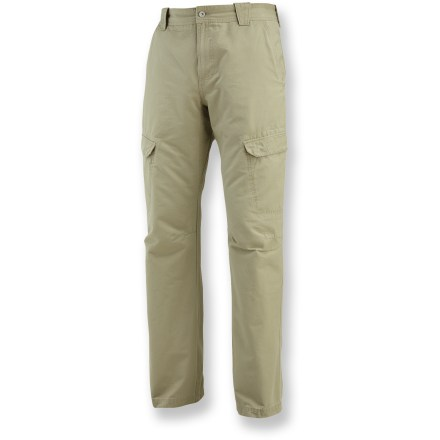 Camp and Hike Explore in comfort and style with the Merrell Barnstormer pants. Cotton is naturally soft, breathable and comfortable. Barnstormer pants are loaded with pockets: hand pockets, 2 cargo pockets and 2 rear pockets with rip-and-stick closures. Gusseted crotch allows unrestricted range of motion. Double-needle stitching adds durability. Closeout. - $30.73