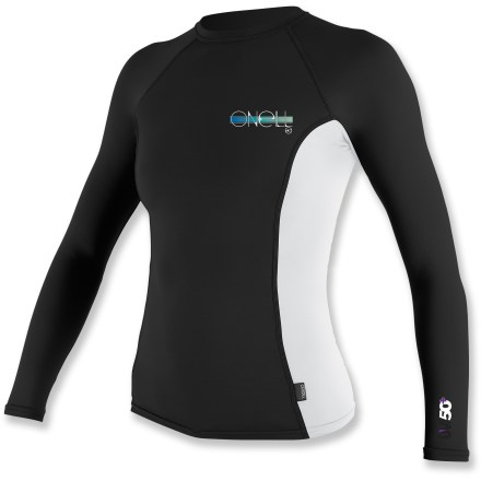 Kayak and Canoe You'll feel right at home playing in the waves in the O'Neill Skins Crew long-sleeve rashguard thanks to its smooth fabric and UV protection. - $19.83