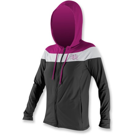 Kayak and Canoe Combining a casual hoodie with smashing good looks, the women's O'Neill 24-7 Tech full-zip hoodie keeps your skin shielded for countless hours of fun in the sun. Quick-drying fabric offers lightweight, breathable protection. Flatlock seams won't chafe and ensure a streamlined look and feel. With a UPF 30 rating, fabric provides good protection against harmful ultraviolet rays. Relaxed fit allows full range of motion. Zippered hand pockets store extras. Hand wash the O'Neill 24-7 Tech full-zip hoodie and drip dry. - $49.93