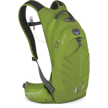 Fitness With a compact design, the Osprey Raptor 6 hydration pack is well-suited to quick and fun rides up to 2 hours long and boasts a 100 fl. oz. reservoir to quench your thirst. - $92.93