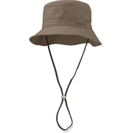 Kayak and Canoe Spend the whole day outdoors enjoying the sun and warm weather in the protective Outdoor Research Monaco(TM) bucket hat. Cotton canvas/spandex blend provides UPF 50+ sun protection so you can stroll the beach or paddle all afternoon; fabric wicks moisture to keep your head dry and cool. Stuff the hat into its own hidden pocket when you no longer need it. Detachable, adjustable chin cord keeps the Monaco hat from blowing away when the winds pick up. - $20.93