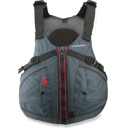 Kayak and Canoe The men's Stohlquist Ebb PFD is a great choice for comfort, and it works well with the seat backs found in many sit-on-top and recreational kayaks. - $99.95