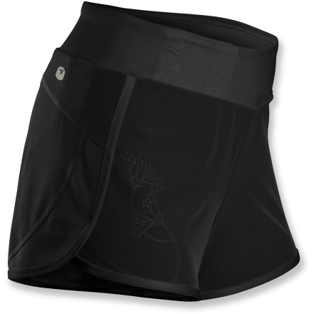 The lightweight, high-performance Sugoi Verve shorts earn their place in your closet with soft, breathable fabric and a comfortable, flattering cut that helps the miles fly by. Lightweight, breathable polyester fabric wicks moisture and dries quickly; added 4-way stretch lets them keep up with your every move. Inner liner keeps you comfortable on long distance runs; wide, smooth waistband lies flat against skin. Sugoi Verve shorts are slightly longer in the back, adding a little extra coverage; split side seams enhance freedom of motion without being too revealing. Hidden pocket on the waistband easily stows keys, ID or an energy gel. Closeout. - $14.73