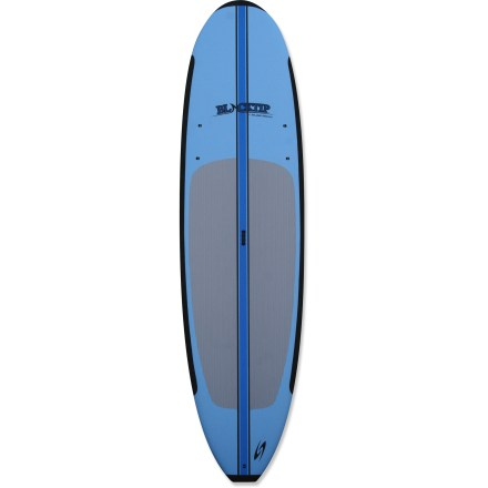 Surf The Surftech Blacktip 10 ft. 6 in. stand up paddleboard with paddle is specifically shaped to accommodate novices, yet offers enough versatility to delight even the seasoned wave shredder. - $880.00