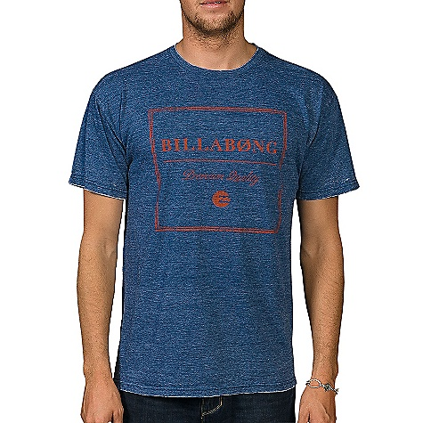 Surf Billabong Men's Cornered Tee DECENT FEATURES of the Billabong Men's Cornered Tee Regular fit tee with a softhand front screen print Burn-out wash Sleeve clomp label Pvc-free heat sealed neck label The SPECS 50% Recycled polyester 50% Organic cotton - $28.50