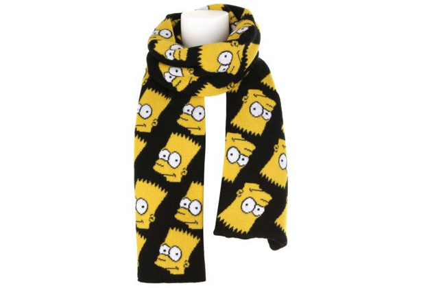 Snowboard Cool Items Now Available: Jeremy Scott Bart Simpson Scarf