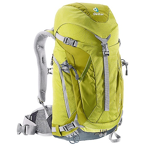 "Camp and Hike Free Shipping. Deuter Women's ACT Trail 20 SL Pack DECENT FEATURES of the Deuter Women's ACT Trail 20 SL Pack AIRCONTACT Back System with Delrin U-frame Rod Stuff-It Pocket Integrated, Detachable Rain Cover Stowaway Hip Belt (20 SL and 24 Only) U-Shaped Front Panel Access Side Pocket Large Side Zippered Pocket Hip Belt Pocket (28 SL and 32 only) Ice Axe & Trekking Pole Loops Hydration Compatible Contoured, Padded Shoulder Straps with 3D AirMesh Carry on compatible ""SL"" Women's Specific Fit The SPECS Carry Capacity: 20 lb. / 9 kg Torso Length: 16 - 20"" / 40-50 cm Volume: 1220 in^3 / 20 L Weight: 2 lb. 8 oz. / 1.13 kg Dimensions: 22 x 10 x 8""/ 55 x 25 x 20 cm (H x W x D) Materials: Microrip-Nylon / HexLite 210 - $119.00"