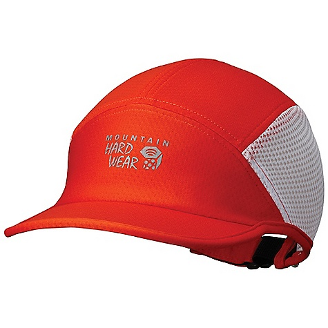 Fitness Mountain Hardwear Quasar Running Cap DECENT FEATURES of the Mountain Hardwear Quasar Running Cap Cool.Q ZERO provides an immediate and ongoing cooling sensation Lightweight mesh sides for ventilation Wide brim provides full face coverage High-visibility reflective print for running at night The SPECS Average Weight: 2 oz / 58 g Body: Running Jacquard (100% polyester) Panel: Running Jersey Mesh (100% polyester) - $29.95