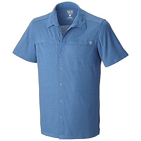 Free Shipping. Mountain Hardwear Men's Frequentor SS Shirt DECENT FEATURES of the Mountain Hardwear Men's Frequentor Short Sleeve Shirt Dri-Release blended yarns wick moisture and minimize odor Chest pocket for small items The SPECS Average Weight: 8 oz / 240 g Center Back Length: 30in. / 76 cm Body: Karry-on Slub Jersey (92% polyester, 8% wool) - $74.95