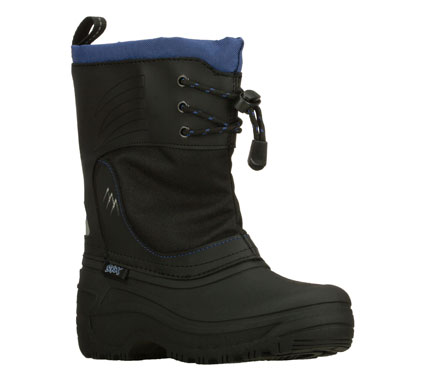 Keep his feet warm and dry with the SKECHERS Brumal - Micah boot.  Synthetic and fabric upper in a slip on mid calf casual cold weather boot with stitching and overlay accents. - $65.00