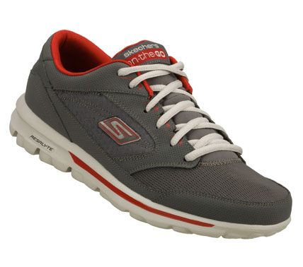 Iconic design and premium materials fuse with innovative SKECHERS GOimpulse Sensor technology to achieve the ultimate in comfort and style.  SKECHERS On the GO - Rookie has a Smooth nubuck leather and mesh fabric upper in a lace up classic sneaker style. - $62.00