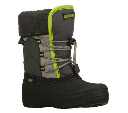 Keep him warm and cozy in cold weather with the SKECHERS Brumal boot.  Synthetic and ripstop fabric upper in a lace up casual mid calf height cold weather boot.  Water resistant and insulated. - $53.00