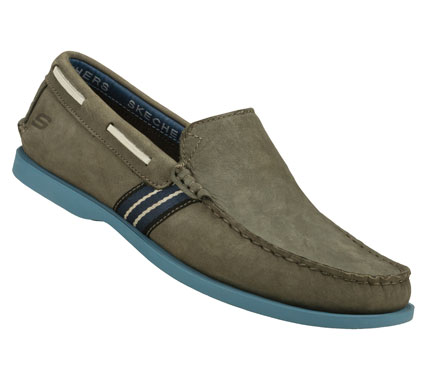Deck yourself out in refined comfortable style with the SKECHERS Codia - Abalo shoe.  Smooth leather upper in a slip on casual boat loafer with stitching and overlay accents. - $71.00