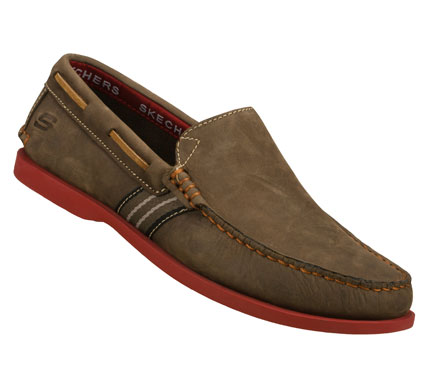 Fitness Deck yourself out in refined comfortable style with the SKECHERS Codia - Abalo shoe.  Smooth leather upper in a slip on casual boat loafer with stitching and overlay accents. - $71.00