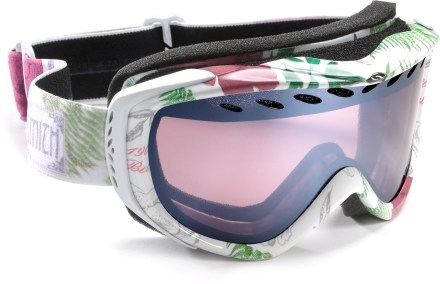 Snowboard Smith Transit White Botanical Snow Goggles - Women's   $65.00