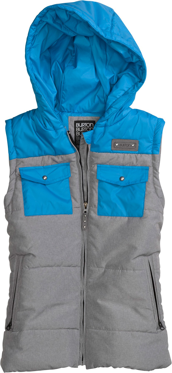 Snowboard Fire up your core. Under or over your jacket, it's an insulating treat.Key Features of the Burton Vest Spruce: DRYRIDE Thermex Lightweight DWR Coated Fabric Thermacore Insulation [200G Throughout] Microfleece-Lined Handwarmer Pockets - $89.95