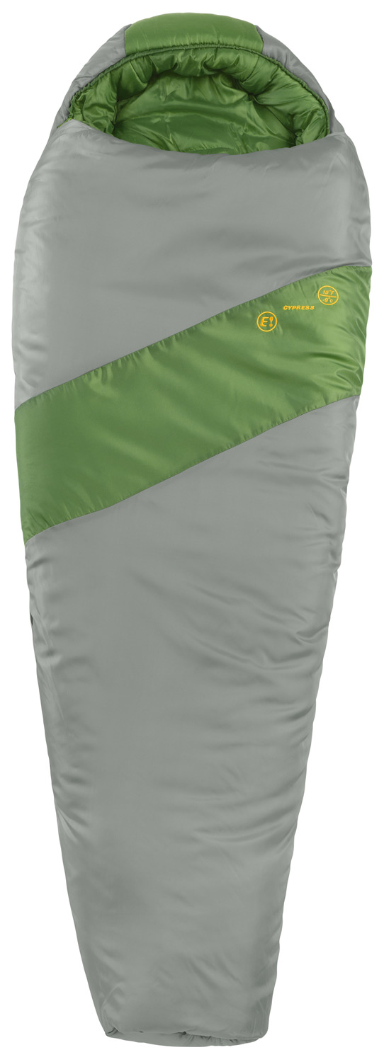 "Camp and Hike Cypress is a comfortable, thermally efficient mummy bag for all-around use. Its junior sizing makes it a great fit for juniors up to 5'6"" tall.Key Features of the Eureka Cypress Sleeping Bag: FIT MATTERS! Junior sizing ensures an ideal fit and maximizes thermal performance while reducing unnecessary weight and bulk. Eureka! ThermaShield insulation is a proprietary blend of solid and hollow core polyester staple fibers. The unique blend provides excellent thermal properties while maintaining loft and durability. Durable, locking, #5 zipper with anti-snag webbing ensures smooth, trouble-free operation. Insulated draft tube runs the entire length of the zipper to seal in warmth. Temp Rating 15"" F / -9 degreeC Style Mummy Length 73"" / fits to 5' 6"" Width 30"" Girth 60"" Fill Weight 2 lbs 7 oz Carry Weight 3 lbs 7 oz Pockets 1 Insulation ThermaShield Cover Fabric 68D / 190T polyester taffeta Liner Fabric 68D / 190T polyester taffeta Zipper #5, 2-way, self-repairing Stuff Sac 10"" x 18"" / coated polyester oxford - $44.95"