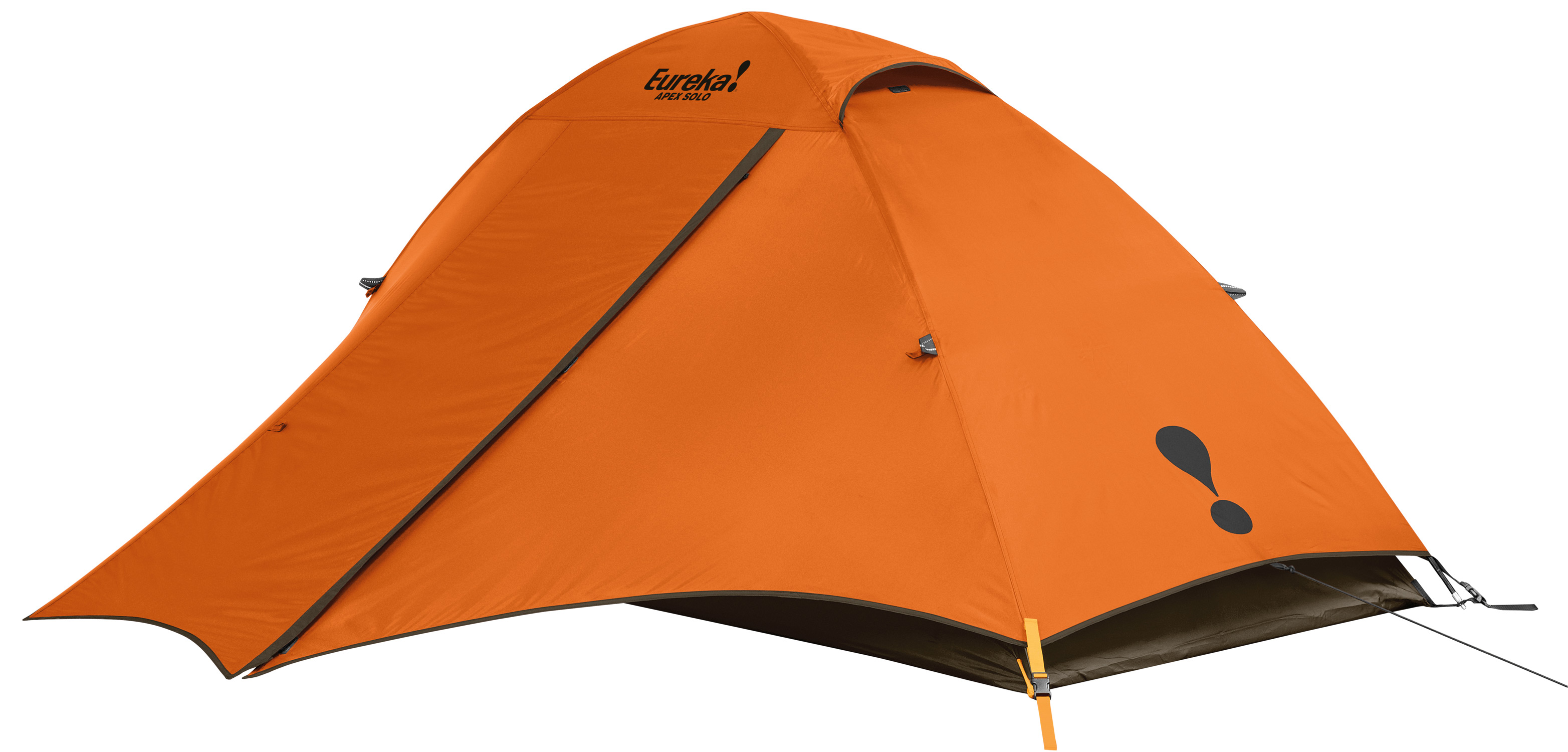 "Camp and Hike This versatile, fiberglass 2 pole dome tent is ideal for those less demanding adventures.Key Features of the Eureka Apex Solo 1 Person Tent: The full coverage fly with a full front vestibule provides ready access weatherproof storage. The tent's free standing and shockcorded frame with post & grommet assembly is sturdy and easy to set up. Two interior pockets & a gear loft keep essentials close at hand. The side opening door tucks into its own pocket for easy access. Bathtub floor wraps up sides of tent, protecting against splashing and standing water. Sleeps 1 Floor Size 7' 6"" x 2' 8"" Pack Size 5"" x 16"" Min Weight 4 lbs 3 oz Seasons 3 Tent Area 20 sq ft Center Height 3' Frame 8.5 mm fiberglass, post & grommet Vents 1 in fly Doors 1 Windows N/A Vestibules 1 Vestibule Area 14.8 sq ft Gear Loft 1 Included Gear Loft Loops 2 Flashlight Loop 1 Storage Pockets 2 Wall 75D 190T polyester taffeta, uncoated Fly 75D 190T polyester taffeta, 800 mm coated Floor 75D 190T polyester taffeta, 800 mm coated Mesh 40D no-see-um - $71.95"