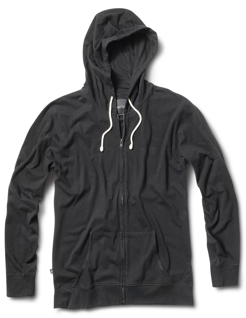 Key Features of the Matix Foreman Zip Hoodie: 65% Cotton / 35% Poly Jersey Our signature style lightweight hoody zip with front pockets - $45.00