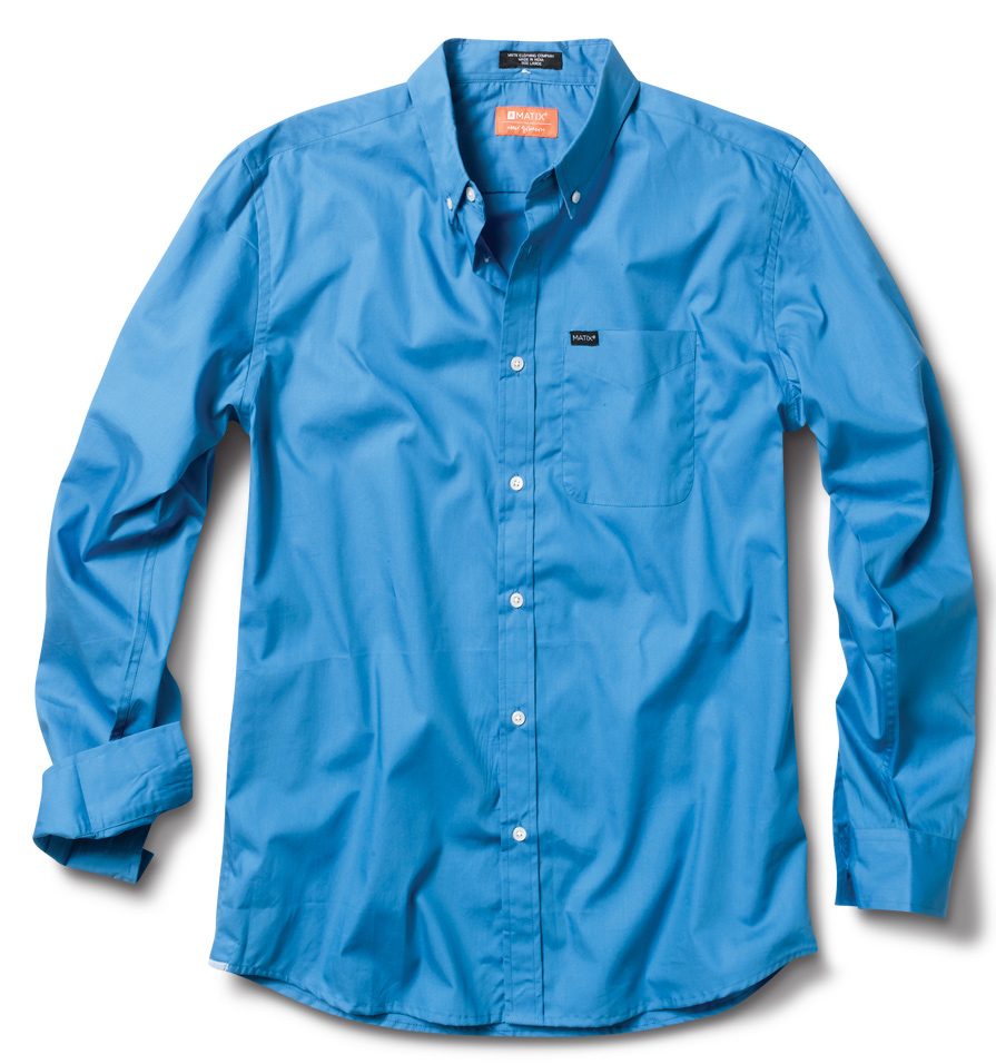 Key Features of the Matix Milling L/S Shirt: 100% Cotton Poplin Great springtime shirt with chambray contrast detail at underside of collar and at our signature bottom side hem detail Matix / Marc Johnson signature labeling Slim fit - $32.95