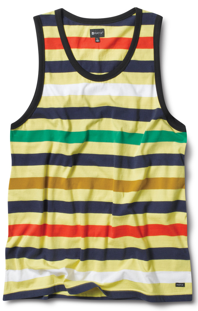 Surf Key Features of the Matix Money Stripe Tank Tank: A Great multi color piece, a great multi color piece.. 100% Cotton - $32.00