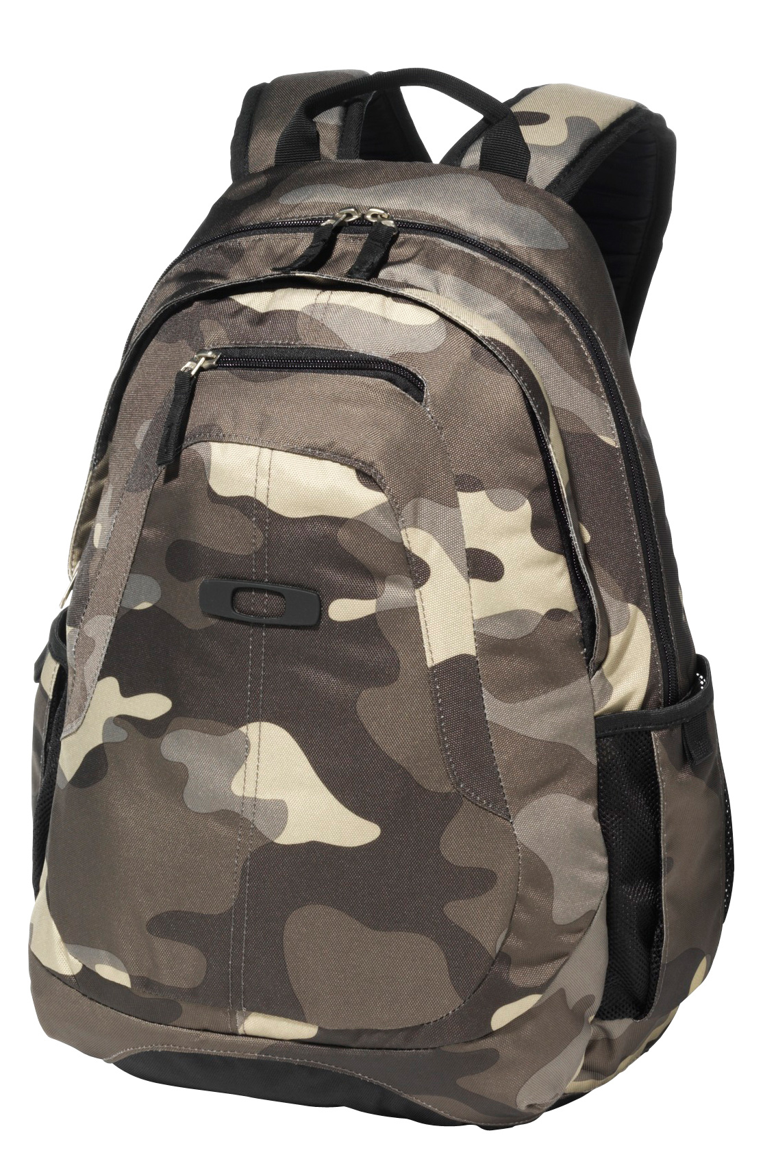 "The Base Load Pack offers the durable and compact construction that accommodates any adventure. The backpack has top-zip openings for easy access to two storage compartments. Inside, a variety of specialized pockets deliver easy organization, and padded adjustable shoulder straps keep every excursion comfortable. Designed to keep 15"" laptops secure with an elastic interior sleeve, the Base Load Pack provides the versatile function ideal for hybrid athletes on the go.Key Features of the Oakley Base Load Pack Backpack: Padded internal sleeve holds most 15"" laptops Padded adjustable shoulder straps allow for comfortable carrying Brushed optics pocket stores eyewear separately and safely Expansion side pockets keep water bottles accessible 25L Capacity 19"" H x 14"" W x 4.5"" D 100% Polyester - $45.00"